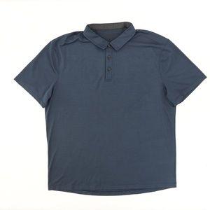 "Lululemon Men 2XL 48"" Golf Polo Shirt Solid Navy"
